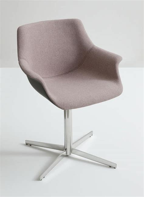 metal armchairs armchair with metal base seat covered with fabric idfdesign