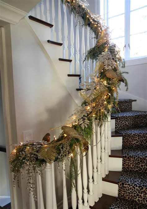 stairs decorations christmas staircase ideas for decorating my staircase