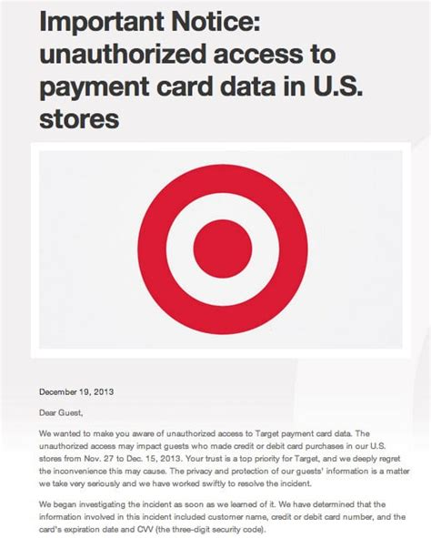target hack target confirms massive breach 40 million credit cards