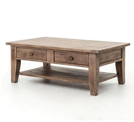 Solid Wood Coffee Table With Drawers Coastal Solid Wood Rustic Coffee Table With Drawers Zin Home