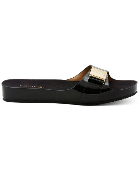 klein sandals calvin klein s marlie sandals in black lyst