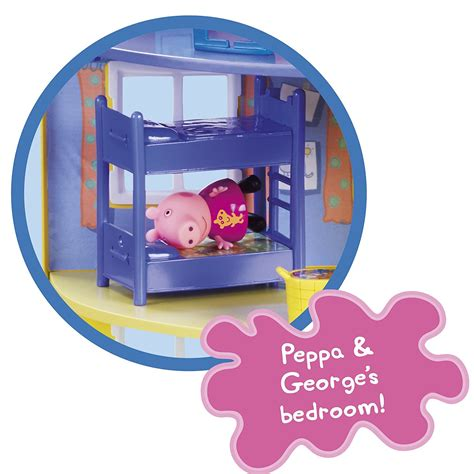 peppa pig family home playset with lights and sounds peppa pig peppa s deluxe family home house large playset