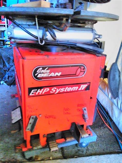 john bean snap  ehp system iv run flat tire changing machine  parts accessories