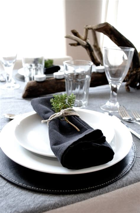 modern table settings black and white archives stylejuicer