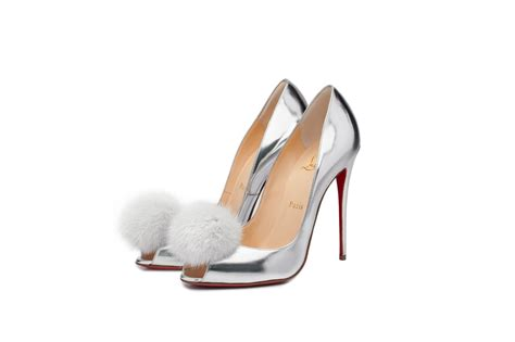 slippers with heels christian louboutin shoes topped with fur pompoms pursuitist