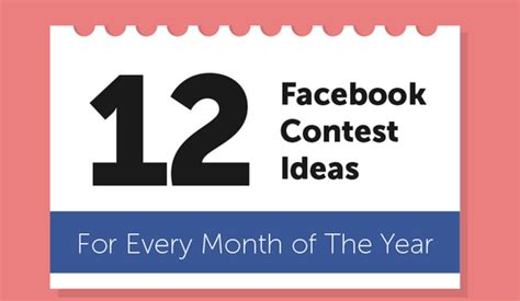 Fb Giveaway Ideas - infographic 12 fantastic facebook contest ideas for every month of the year