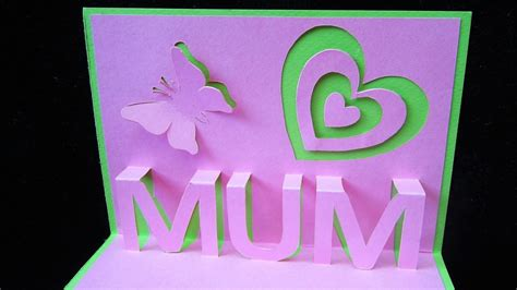 fiy mothers day pop up card template diy pop up cards for s day larissanaestrada