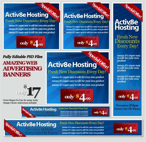 templates for web banners 17 blue website banner psd images online advertising