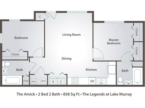 2 bedroom 2 bath open floor plans apartment floor plans pricing the legends at lake
