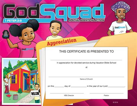 Attractive Super Church Curriculum #2: Vbs-Appreciation-certificate.png