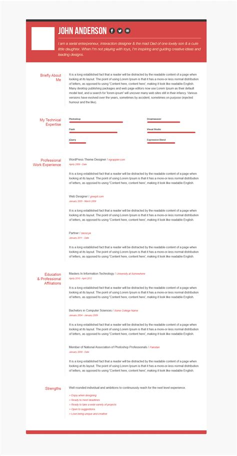 of the shareware creative resume templates free