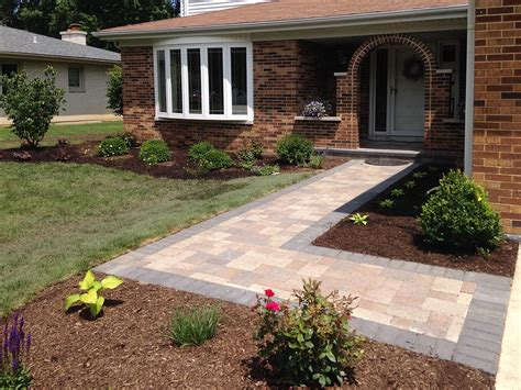 front paver entrance remodel in arlington heights