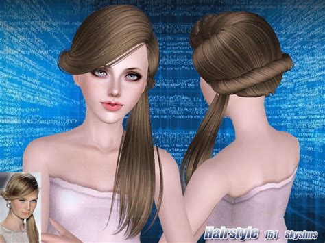 small ponytail hairstyle 228 by skysims sims 3 hairs the sims 3 fancy ponytail hairstyle 151 by skysims