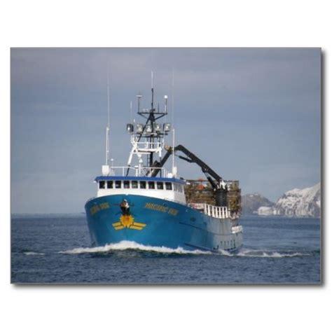 crab boat pacific sun crab boat in dutch harbor alaska postcard