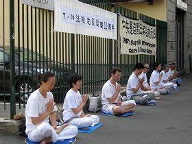 consolato cinese orari italia i praticanti falun gong commemorano