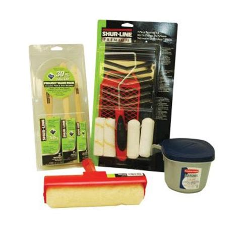 home depot paint roller kit shur line home projects 12 paint brush and roller