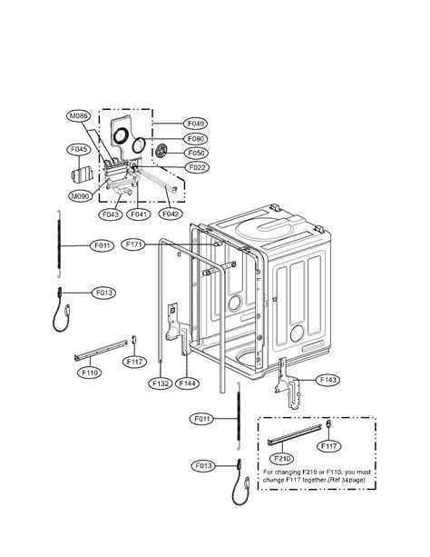 lg dishwasher parts diagram tub parts diagram parts list for model ldf7811st01 lg