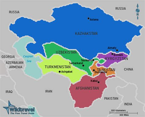 map of central asia file map of central asia png wikitravel