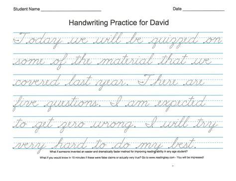 Creative homeschool ideas customizable cursive and print too
