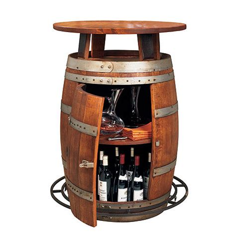 Barrel Bistro Table Vintage Oak Wine Barrel Bistro Table Wine Enthusiast