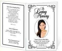 funeral card templates free 1000 images about creative memorials with funeral program