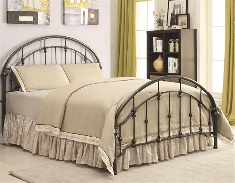 metal beds king maywood dark bronze curved cal king metal bed from
