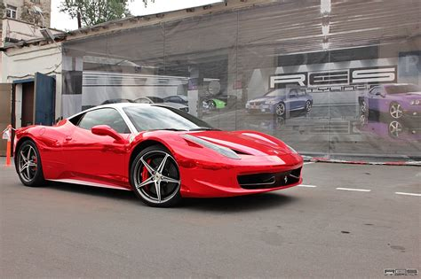 chrome ferrari 458 ferrari 458 red chrome from russia
