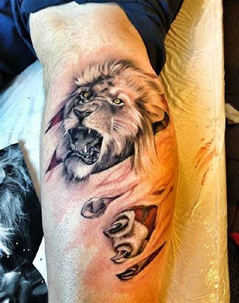 tattoo 3d leones tatuajes del poderoso le 211 n un rey de los tatuajes
