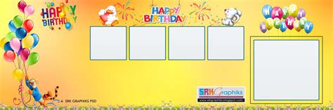 Psd 12 215 36 Karizma Birthday Album Templates Free Download Srk Graphics Happy Birthday Photoshop Template