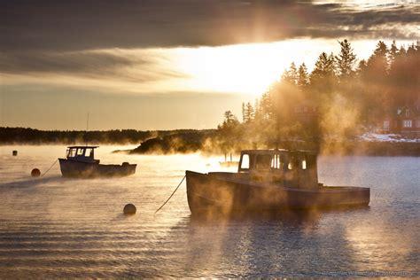 sea smoke maine photographers chase sea smoke to share in the magic