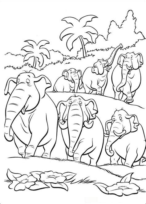 war elephant coloring pages kleurplaten en zo 187 kleurplaten van jungle boek