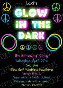 best compilation of glow in the birthday invitations theruntime