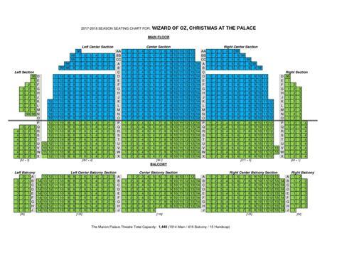palace seating palace seating chart cadillac palace theatre seating
