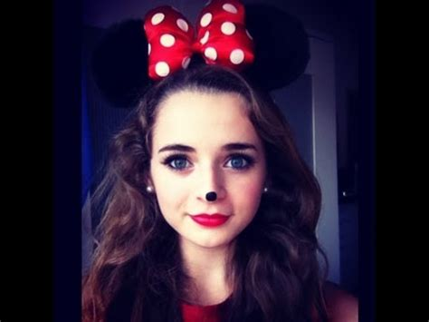 Mini Maus Schminkvorlage by Minnie Mouse Makeup And Costume Tutorial