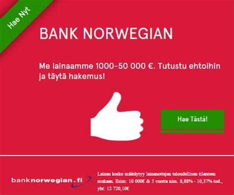 bank norwegen bank pankkilaina 1000 60000 lainap 228 228 t 246 s