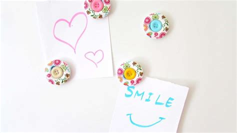 Handmade Fridge Magnets Ideas - how to make decorative button fridge magnets diy crafts