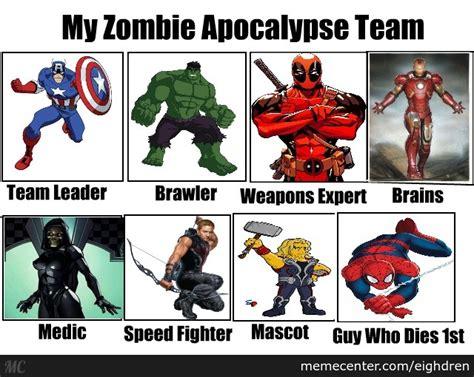 imagenes de wolverine memes marvel zombie apocalypse team by eighdren meme center