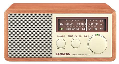 cabinet am fm radio sangean wr 11 wood cabinet am fm table top analog radio