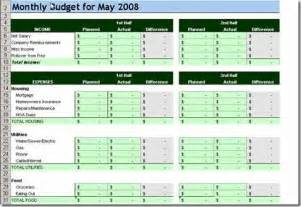 House Budget Spreadsheet Template 10 Free Household Budget Spreadsheets For 2017