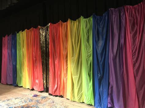 rainbow stage backdrop stage backdrop girls birthday