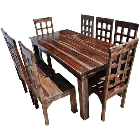 portland rustic furniture extendable dining room table chair set