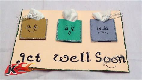 get well soon pop up card template creative handmade get well greeting card sle showing