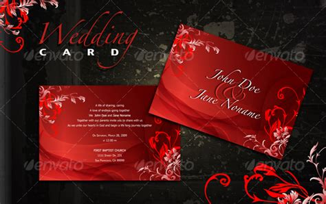 invitation card design tutorial photoshop red wedding card by atom design graphicriver