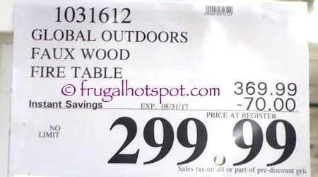 global outdoors faux wood table costco sale global outdoors faux wood table 299 99
