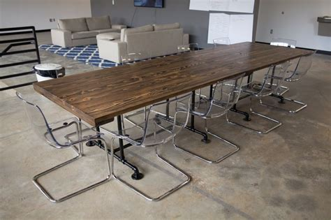 Industrial Conference Table Industrial Style Conference Table 2 6 Industrial Conference Tables Put Together To Make One