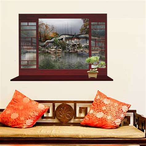 garden wall stickers window garden wall sticker beautiful scenery