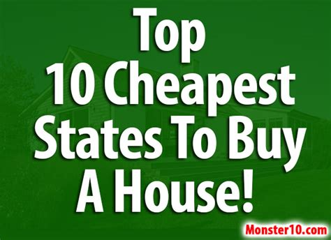 Cheapest States To Buy A House | top 10 cheapest states to buy a house