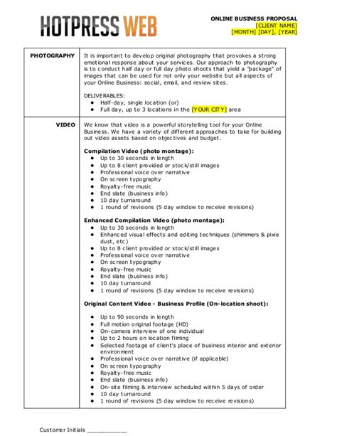 Wdsk Proposal Template Photography Rfp Template