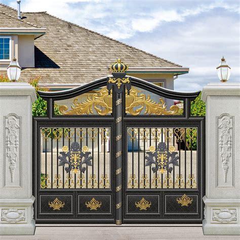 modern gate pillar design also iron door designs for