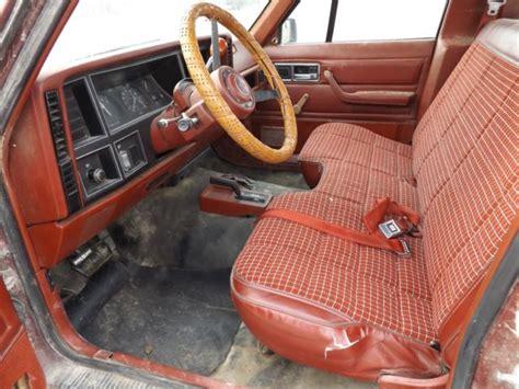 1986 jeep comanche interior 1986 jeep comanche 4x4 pickup